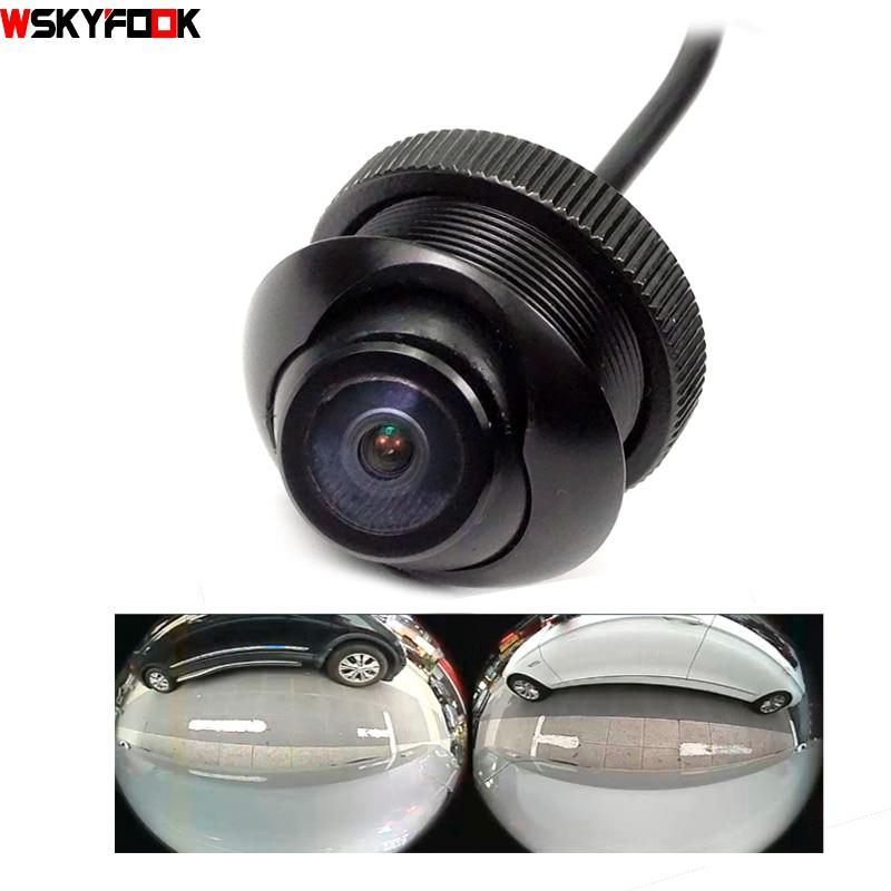 600L CCD cámara de 180 grados LENTE ojo de pez Lente gran angular Posterior Vista lateral delantera Cámara de respaldo 360 cámara nocturna rotato impermeable