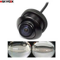 600l ccd 180 graus câmera fisheye lente grande angular traseira vista lateral reversa câmera de backup 360 rotato visão noturna à prova dwaterproof água
