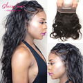 Перуанский объемная волна кружева фронтальной человеческих волос новый стиль волос 360 кружева фронтальная закрытие 8а необработанные перуанский девы волос на теле волна
