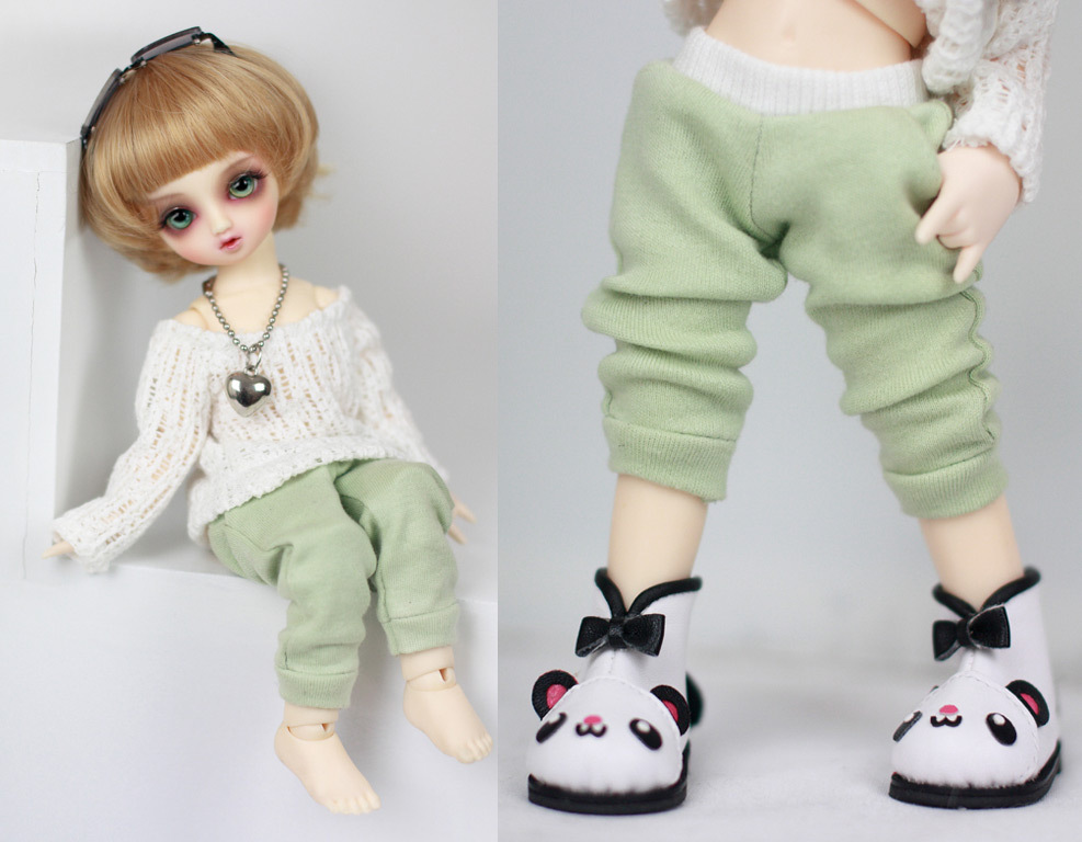 1/6 YOSD green sports pants  For BJD  Doll Clothes Accessories uncle 1 3 1 4 1 6 doll accessories for bjd sd bjd eyelashes for doll 1 pair tx 03