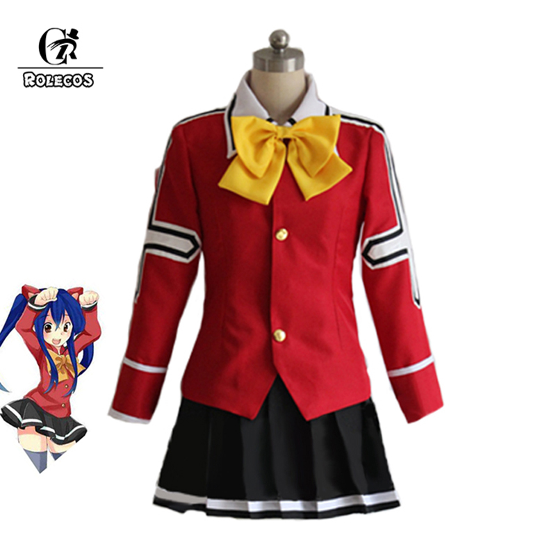 ROLECOS Anime FAIRY Tail Cosplay Costume Wendy Marvell Uniform Cosplay Costume Full Set Custom Made Halloween Costumes