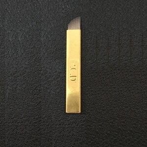 Image 4 - 50 Pcs Microblading קשיח מחטי 12/14/12u/14u עבור Microblading רקמת עט Pernement איפור מכונת