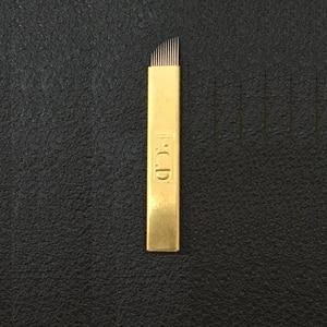 Image 4 - 50 Pcs Microblading Needles Hard 12/14/12u/14u for Microblading Embroidery Pen Pernement Makeup Machine