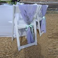 75*100cm 40 Pieces Lavender Chair Sashes With Baby Blue Bow Decoration For Wedding Party Banquet Party Decoration Cheap