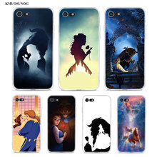Transparent Soft Silicone Phone Case Beauty & The Beast stencil for iPhone XS X XR Max 8 7 6 6S Plus 5 5S SE