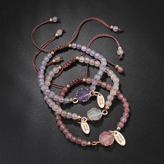 Bracelet Quartz Rose Pas Cher