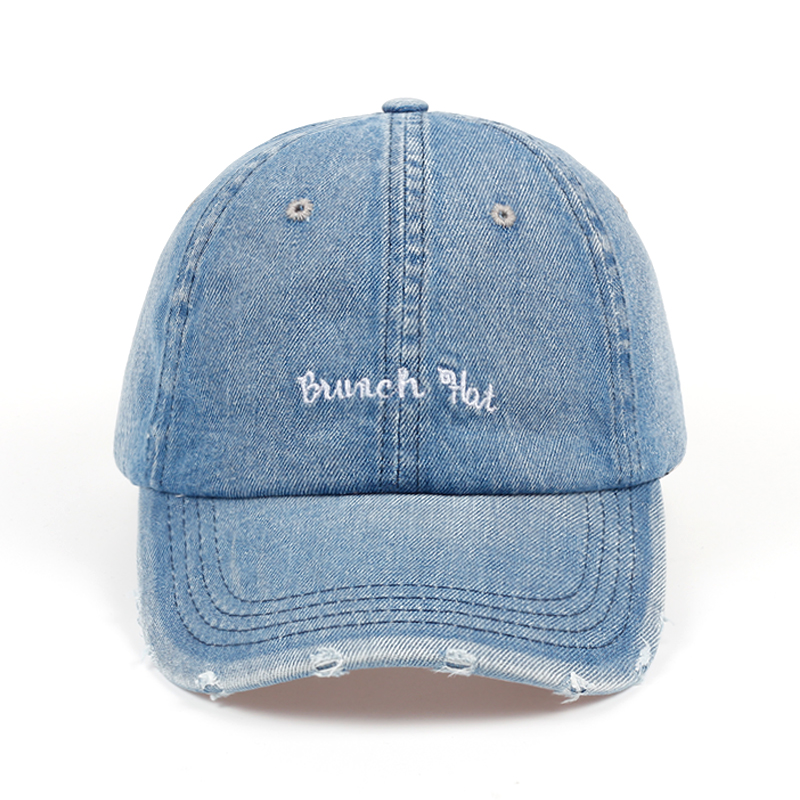 aa3606888d2 2018 New Fashion Aliens Snapback Cap Washed hole cowboy blue Fabric Baseball  Cap Hip Hop Hat