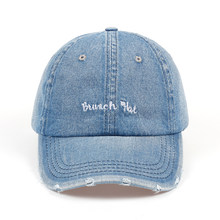 01a9f244b78 2018 New Fashion Aliens Snapback Cap Washed hole cowboy blue Fabric Baseball  Cap Hip Hop Hat Dad Hat for Men Women