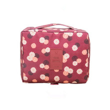 Fashion Portable Cosmetic Bag Women Make Up Travel Organizer Polyester Packaging Cube Neceser Mujer