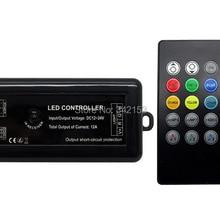20 клавиш 12A ИК светодиодный музыкальный контроллер Инфракрасный музыкальный светодиодный пульт управления DC12-24V портативное освещение аксессуары для RGB светодиодный полосы света