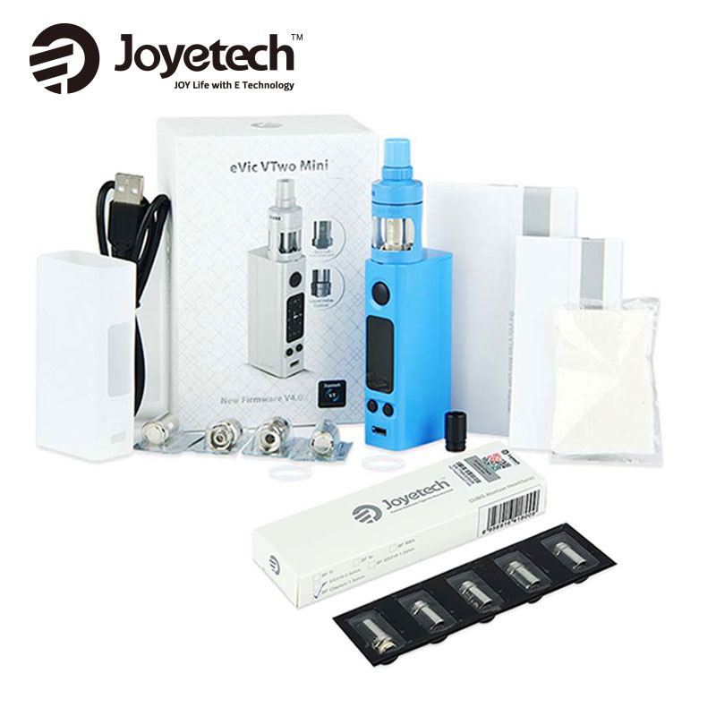 Original Joyetech eVic VTwo Mini Vape Kit Electronic Cigarette w/ Cubis Pro Tank with 0.6ohm 5pcs BF Cubis Coil NO 18650 Battery цена 2017