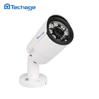 Techage Full HD 4MP 2592 1520 POE IP Camera Outdoor Waterproof 6pcs ARRAY IR Led CCTV