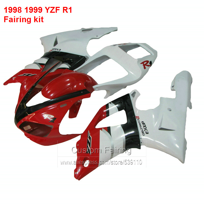 цена на Fairings For YAMAHA YZF R1 98 99 1998 1999 ( Red & white ) Fairing kit Aftermarket ll12