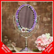 idea  nuevo vintage antiguos espejos compactos con mango maquillaje vanidad espejo de escritorio espejo de maquillaje mesa de maquillaje