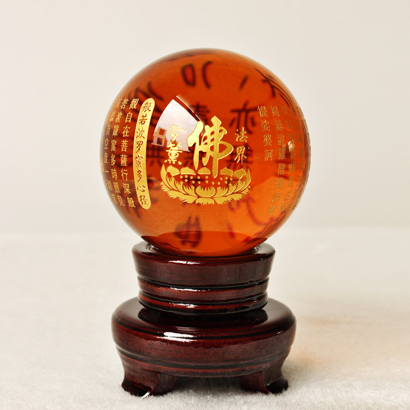 8CM - HOME Talisman efficacious Protection # Exorcise evil spirits Tibetan Buddhism lection FENG SHUI crystal ball statue8CM - HOME Talisman efficacious Protection # Exorcise evil spirits Tibetan Buddhism lection FENG SHUI crystal ball statue