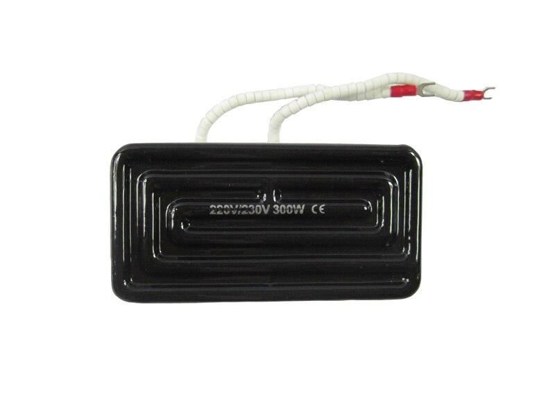 120*60mm 300w Infrared Heater Ceramic Heating Plate for bga rework station 220v 210x100mm white ir infrared curved ceramic heater plate air heating board pad for bga station mould metal clip ptc heater