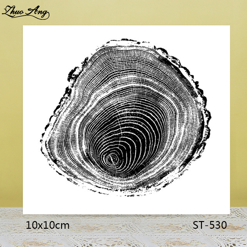 ZhuoAng Age of the big tree Transparent seal sealed DIY scrapbook album decoration card seamless seal in Stamps from Home Garden