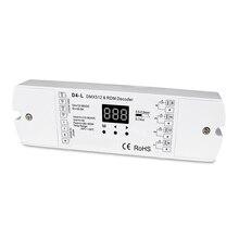 4チャンネルCVDMX512デコーダ; dc12 36v入力; 5a * 4ch出力付きディスプレイ用設定dmxアドレス
