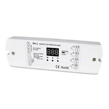 4 Canais Decodificador CVDMX512; DC12 36V entrada; 5A * 4CH saída com display para definir o endereço dmx