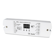 4 kanałowy CVDMX512 dekoder; DC12 36V wejście; 5A * 4CH wyjście z wyświetlaczem do ustawiania adresu dmx