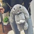 Divertido Conejo de Piel Mochila Mochilas escolares Para Las Niñas Adolescentes Cartoon Bunny 3D Mujeres de la Cadena Del Bolso de Hombro Mochila de Viaje Mochila Li809