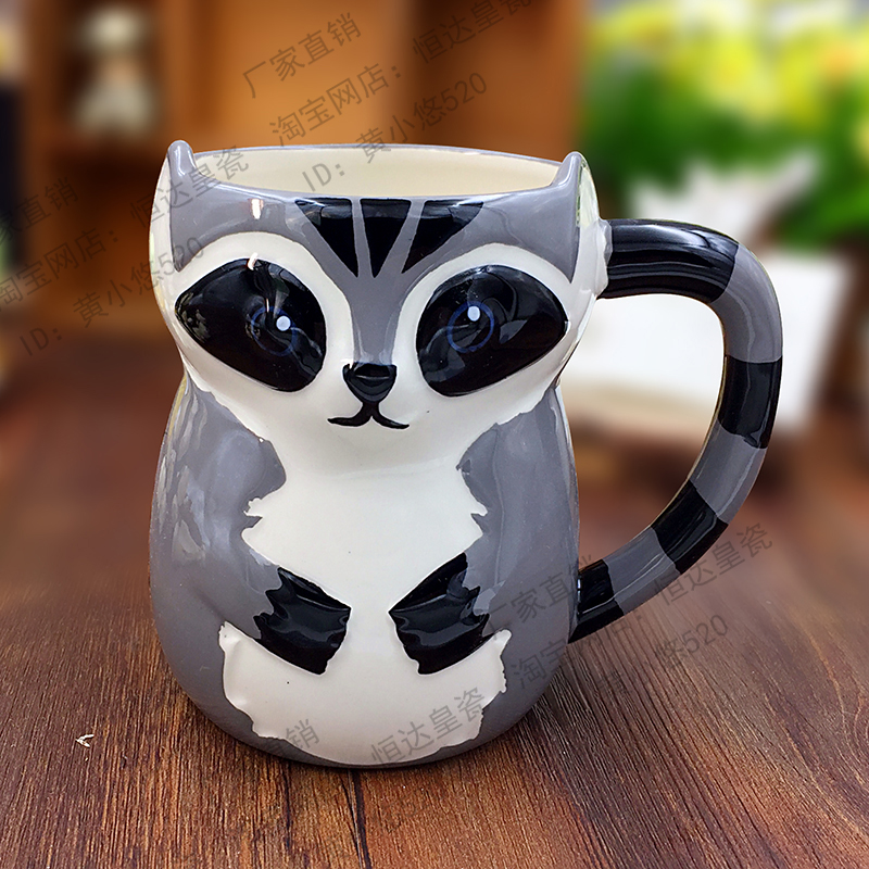 500 ml nette tier 3d fuchs kaffee tasse gro e kapazit t hand painted cartoon keramik fr hst ck. Black Bedroom Furniture Sets. Home Design Ideas