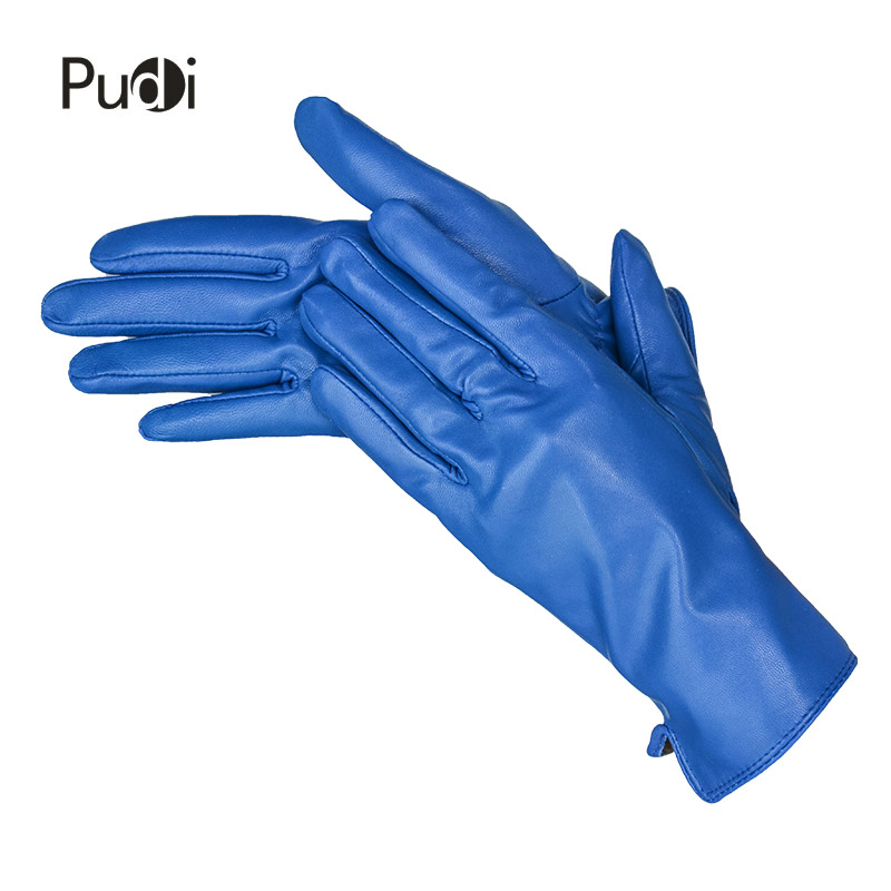 Pudi GL848 Women Genuine Leather Glove 2018 Winter New Real Leather Gloves Fashion Style Black Brown 10 Colors