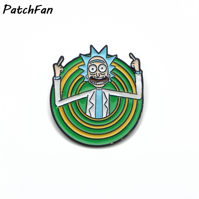 US $1 94 35% OFF|Rick and Morty Rick Sanchez Peace Among Worlds soft enamel  pin badge-in Badges from Home & Garden on Aliexpress com | Alibaba Group