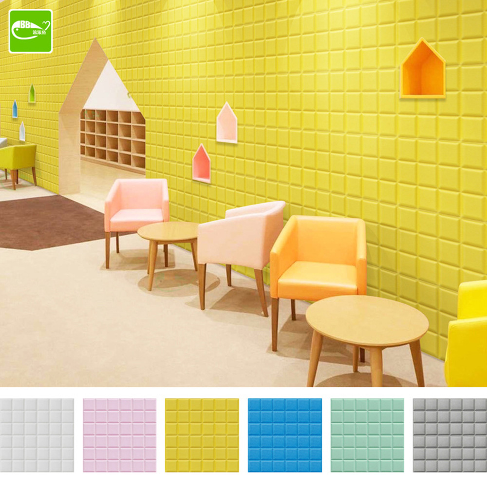 Newest 60x60cm PE Leather 3D Wall Panels Colorfull 3D Leather ...