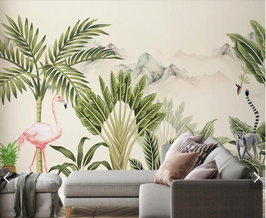 обои с фламинго для стен леруа мерлен это деревце куст