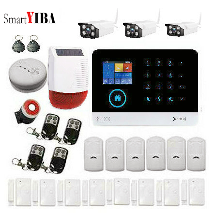 SmartYIBA Home Security Alarm System with Outdoor IP Camera Wireless WIFI GSM Alarm APP Remote for Home Office 2G Alarm Home SmartYIBA Home Security Alarm System with Outdoor IP Camera Wireless WIFI GSM Alarm APP Remote for Home Office 2G Alarm Home