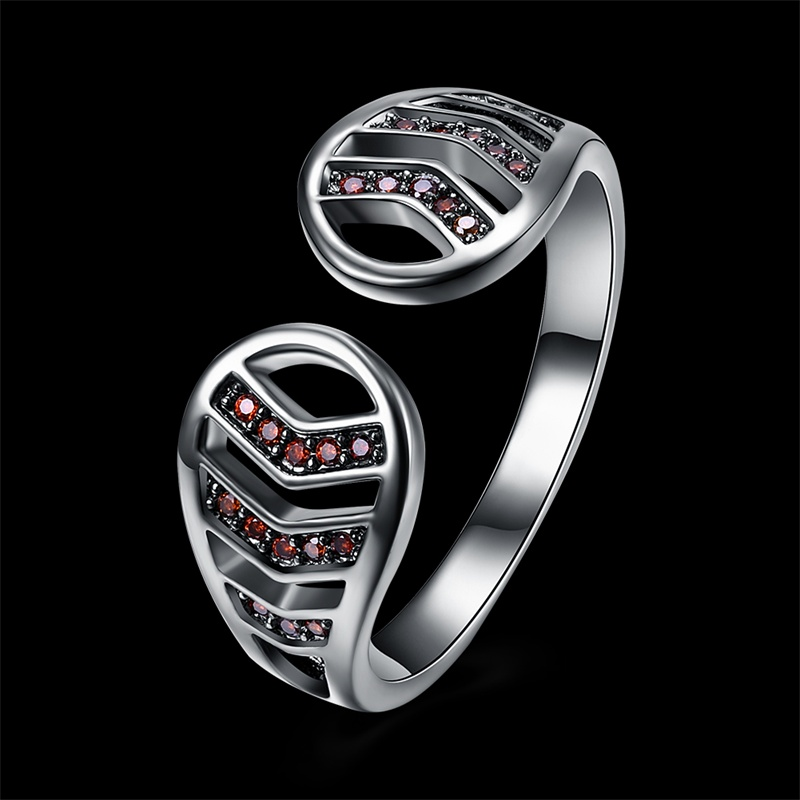 Antique Rings Cheap Hollow Opening Women Fashion Rings Red Cubic Zircon Jewelry 2018 New Trendy Love Gifts For Relatives Friends