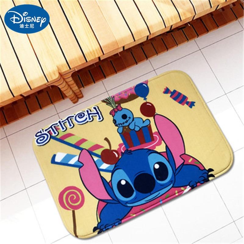 38x58cm Cartoon Stitch Door mat foot pad Entrance Anti-Slip Doormat Carpets Bedroom Rugs Decorative Stair Bathroom, non-slip