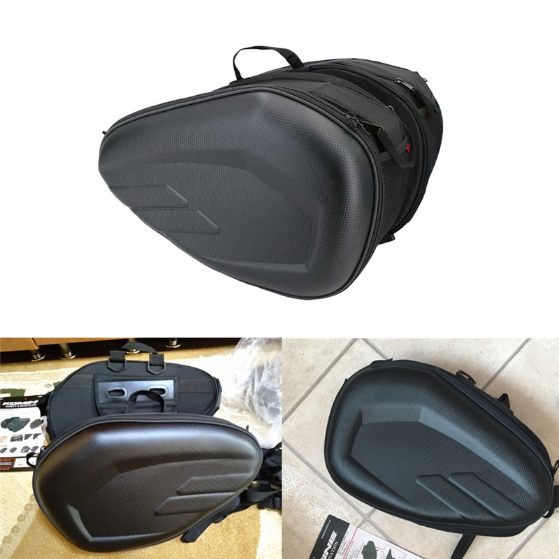 Black Motorcycle Drop Leg Bag Waterproof Nylon Motorcycle Bags Outdoor Casual Waist Bag Motorbike Luggage Suitcase Saddle Bag