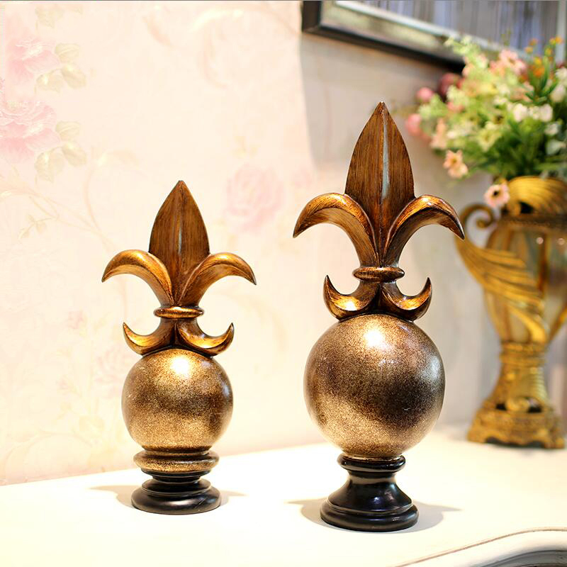 Résine européenne créative français victoire Logo ameublement artisanat décoration maison salon bureau Figurines accessoires œuvre