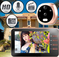 "4.3"" Smart Digital Door Viewer Camera DoorBell Audio Video Recorder Peephole Viewers Night Vision Door Eyes"