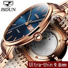 Мужские Водонепроницаемый золотые часы марки роскошные jsdun 2017 Спорт Tourbillon Автоматическая Механическая полный Сталь наручные часы Relogio Masculino