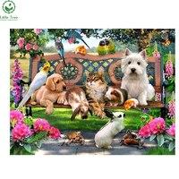 Tier serie diy diamant malerei einfache handmade kreuzstich hund katze kaninchen malerei kinderzimmer dekoration gutes geschenk