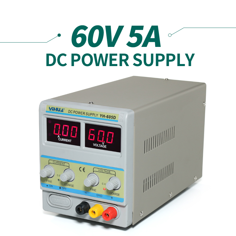 YIHUA 605D Laboratory LCD DC Regulated Power Supply , 110v / 220v / 230v / 240v AC cps 6011 60v 11a digital adjustable dc power supply laboratory power supply cps6011
