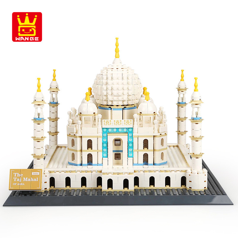 World Great Architecture Taj Mahal London Paris town bridge building blocks children assemble bricks toys