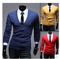 2017 spring and autumn men's casual V neck sweater bottoming sweaters cardigan knitted sweater Asia M-XXL