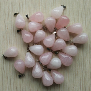 Image 2 - 2020 Fashion hot selling good quality  Natural stone charms water drop Pendants for  jewelry marking 50Pcs/Lot Wholesale free