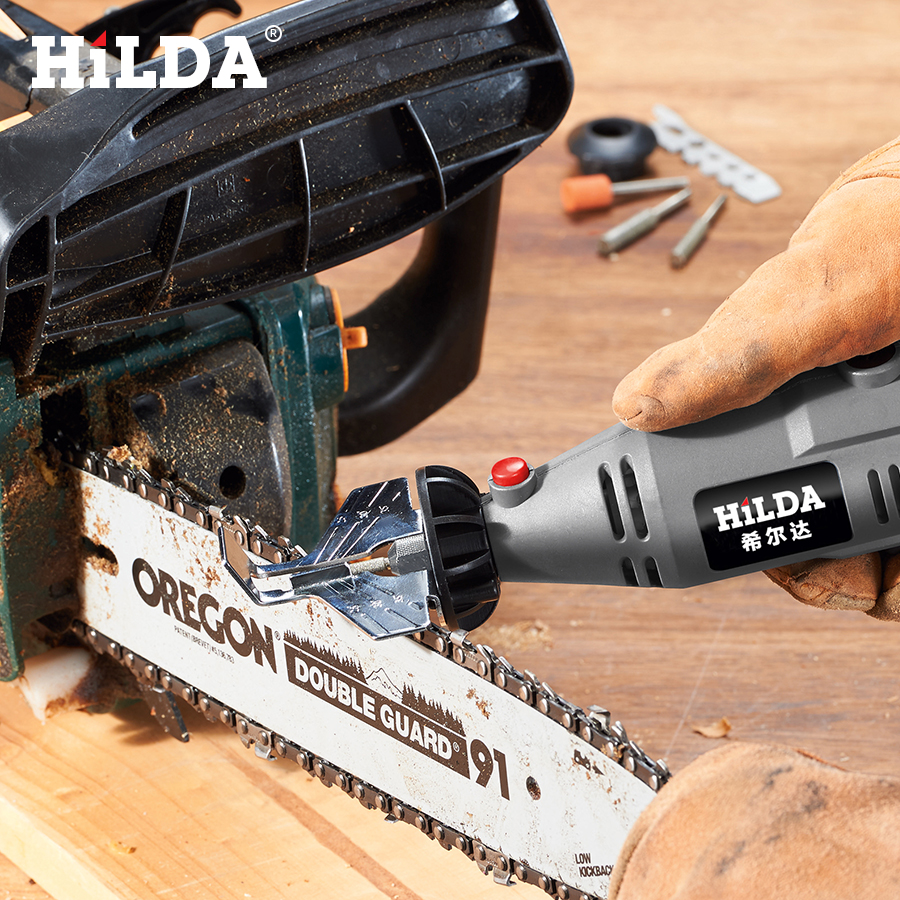 HILDA Saw Sharpening Attachment Sharpener Guide Drill Adapter for Dremel drill Rotary accessories