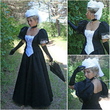 Custom madeOn sale V-12269 1860S Victorian Gothic/Civil War Southern Belle Ball Gown Dress Halloween dresses Sz US 6-26 XS-6XL