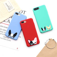 Cute French Bulldog Hard Phone Case For iPhone 6 6 Puls Cartton Pug Dog Animal Back Cover For iPhone 7 7 Puls 8 Puls Coque Capa(China)