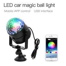 ZHONGJI 5V USB Home Sound Party Disco Light Ball Car Stage Lighting Effect Lamp Rotating Moving Head RGB Decoration Lights