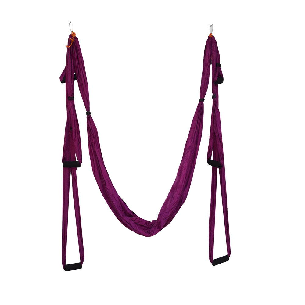 High Strength Anti gravity Yoga Fitness Training Hanging Belt Nylon Parachute Aerial Yoga Hammock Swing for