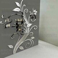 DIY Spring Nature Single Elegant Flower Wall Stickers Home Decor For House Corner Backdrops Best Soft