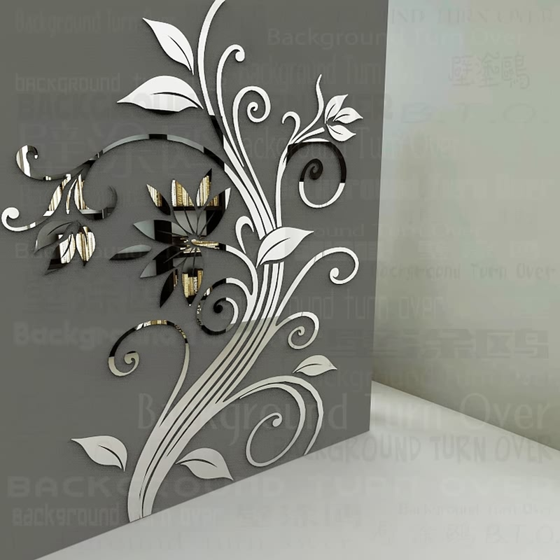 Home Decor Elegant Home Decor Diy: DIY Spring Nature Single Elegant Flower Wall Stickers For Home Corner Decoration Decorative Art