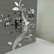DIY Весна природа один элегантный цветок настенные наклейки для дома угловой украшения декоративного искусства плакат R219